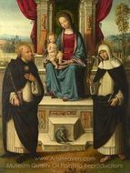 The Virgin and Child with Saints painting reproduction, Benvenuto Tisi Garofalo