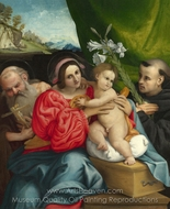 The Virgin and Child with Saints painting reproduction, Lorenzo Lotto