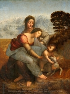The Virgin and the Child with St. Anne painting reproduction, Leonardo Da Vinci