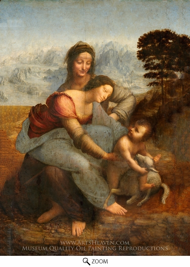 Leonardo Da Vinci, The Virgin and the Child with St. Anne oil painting reproduction