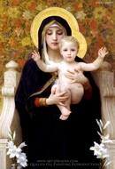 The Virgin of the Lilies (La Vierge au Lys) painting reproduction, William A. Bouguereau