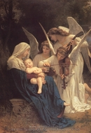 The Virgin with Angels (La Vierge aux Anges) painting reproduction, William A. Bouguereau