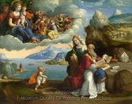 The Vision of Saint Augustine painting reproduction, Benvenuto Tisi Garofalo