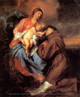 The Vision of St. Anthony painting reproduction, Sir Anthony Van Dyck