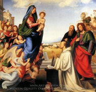 The Vision of St. Bernard painting reproduction, Fra Bartolommeo