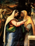 The Visitation painting reproduction, Sebastiano Del Piombo