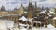 The Vsehvyatskiy Stone Bridge painting reproduction, Vasnetsov Apollinariy
