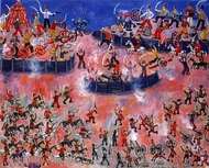 The War of Independence painting reproduction, Emil Pavelescu