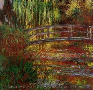 The Water-Lily Pond (Japanese Bridge) painting reproduction, Claude Monet