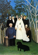 The Wedding painting reproduction, Henri Rousseau