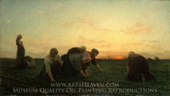 The Weeders painting reproduction, Jules Breton