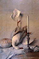 The White Duck painting reproduction, Jean Baptiste Oudry