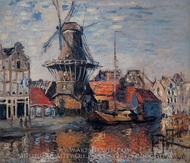 The Windmill on the Obekende Canal painting reproduction, Claude Monet