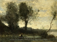 The Wood Gatherer painting reproduction, Jean-Baptiste Camille Corot
