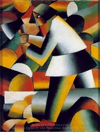 The Woodcutter painting reproduction, Kasimir Malevich