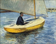 The Yellow Boat painting reproduction, Gustave Caillebotte