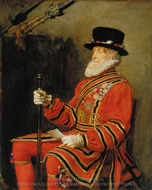 The Yeoman of the Guard painting reproduction, John Everett Millais