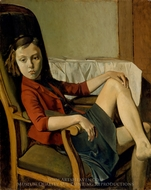 Therese painting reproduction, Balthus