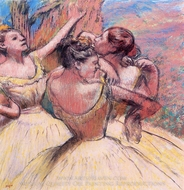 Three Dancers painting reproduction, Edgar Degas