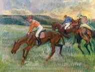 Three Jockeys painting reproduction, Edgar Degas