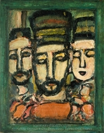 Three Judges painting reproduction, Georges Rouault