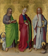 Three Saints painting reproduction, Stefan Lochner