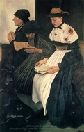 Three Women in Church painting reproduction, Wilheim Leibl