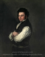 Tiburcio Perez y Cuervo, the Architect painting reproduction, Francisco De Goya