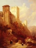 Tower of Comaris painting reproduction, David Roberts