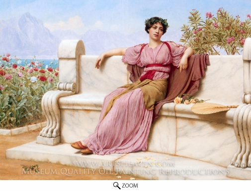 John William Godward, Tranquility oil painting reproduction