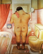 Tribute to Bonnard painting reproduction, Fernando Botero