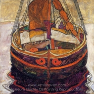 Trieste Fishing Boat painting reproduction, Egon Schiele