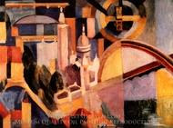 Triomphe de Paris painting reproduction, Robert Delaunay