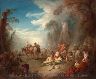 Troops at Rest painting reproduction, Jean-Baptiste Joseph Pater