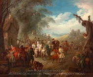 Troops on the March painting reproduction, Jean-Baptiste Joseph Pater