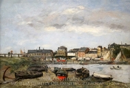 Trouville painting reproduction, Eugene-Louis Boudin