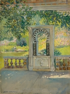 Turkish Fountain with Garden painting reproduction, Jane Peterson