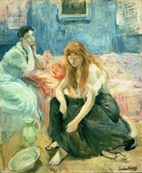 Two Girls painting reproduction, Berthe Morisot