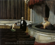 Two on the Aisle painting reproduction, Edward Hopper