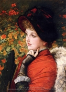 Type of Beauty (Kathleen Newton) painting reproduction, James Tissot