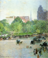 Union Square painting reproduction, Childe Hassam