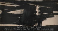 Untitled painting reproduction, Franz Kline
