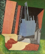 Urban Landscape painting reproduction, Diego Rivera