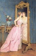 Vanity painting reproduction, Auguste Toulmouche