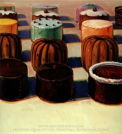 Various Cakes painting reproduction, Wayne Thiebaud