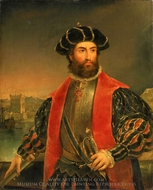 Vasco da Gama painting reproduction, Antonio Manuel De Fonseca