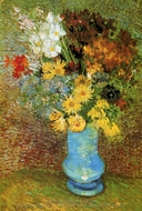 Vase with Daisies and Anemones painting reproduction, Vincent Van Gogh