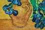 Vase with Irises against a Yellow Background by Vincent Van Gogh