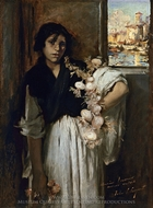 Venetian Onion Seller painting reproduction, John Singer Sargent
