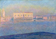 Venice, the Doges' Palace Seen from San Giorgio Maggiore painting reproduction, Claude Monet